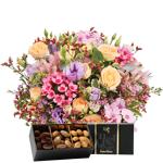 interflora  Interflora Bouquet Zeste tendre et ses amandes au chocolat... par LeGuide.com Publicité