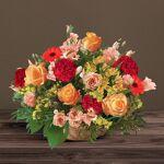 interflora  Interflora Bouquet Cérémonie rouge orange Panier de fleurs... par LeGuide.com Publicité