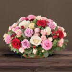 interflora  Interflora Bouquet Rosae Panier de roses aux teintes rose,... par LeGuide.com Publicité