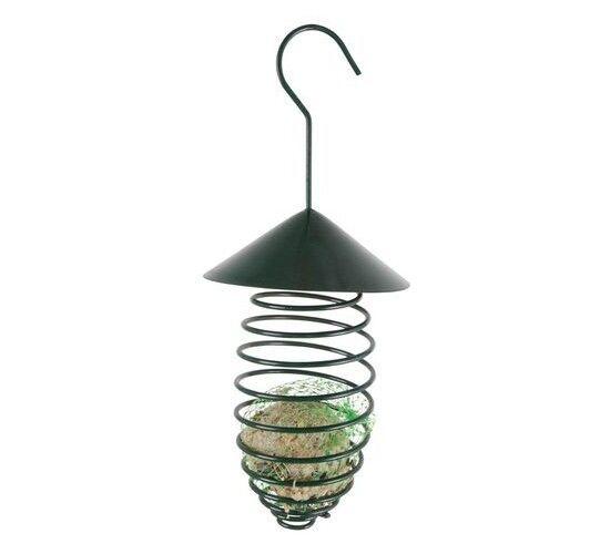 Best For Birds Spirale pour boule de graisse, vert foncé, avec toit