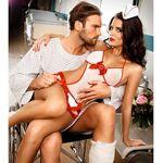 baci  Baci Costume d'Infirmière Déshabillé Blanc et Rouge Tenue d'infirmière... par LeGuide.com Publicité