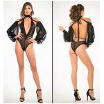 allure lingerie  Allure Lingerie Body Manches Longues en Tulle Noir A1018... par LeGuide.com Publicité