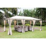 AUCUNE Tonnelle de jardin - En acier polyester - 6 x 3 m - Beige Tonnelle... par LeGuide.com Publicité