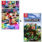 nintendo  NINTENDO Pack 2 jeux Switch : Mario Kart 8 Deluxe + Minecraft... par LeGuide.com Publicité