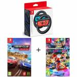 nintendo  NINTENDO Pack 2 Jeux Switch + volant : Club Gear & Mario... par LeGuide.com Publicité