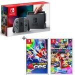 nintendo  NINTENDO Pack Nintendo Switch Grise + Mario Tennis Aces + Mario... par LeGuide.com Publicité