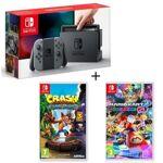 nintendo  NINTENDO Pack Nintendo Switch Grise + Crash Bandicoot N. Sane... par LeGuide.com Publicité