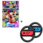nintendo  NINTENDO Mario Kart 8 Deluxe Jeu Switch + Pack de 2 volants Steelplay... par LeGuide.com Publicité