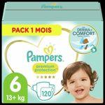 pampers  PAMPERS Premium Protection Taille 6 15+ kg - 120 Couches, Pack... par LeGuide.com Publicité