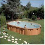gre  GRE Piscine ovale acier 7,44 x 3,99 x H 1,32 m - Imitation bois Piscine... par LeGuide.com Publicité