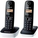 panasonic  Panasonic KX-TG1612FRW Duo Téléphone Sans Fil Sans Répondeur... par LeGuide.com Publicité