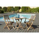 AUCUNE Ensemble de jardin en teck : 1 table carrée pliante 70 x 70 cm... par LeGuide.com Publicité