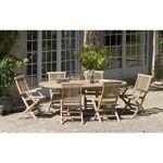 AUCUNE Table en bois teck massif ovale extensible de jardin 150 - 200... par LeGuide.com Publicité