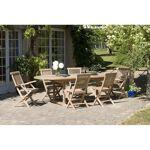 AUCUNE Table en bois teck massif ovale extensible de jardin 180 - 240... par LeGuide.com Publicité