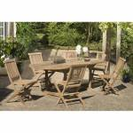 AUCUNE Ensemble en teck massif table extensible ovale de jardin 180 -... par LeGuide.com Publicité