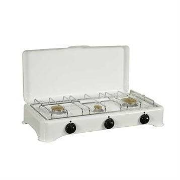 Kitchen Chef Professional Réchaud gaz 3 brûleurs émaillé blanc 5327C Kitchen Chef Professional