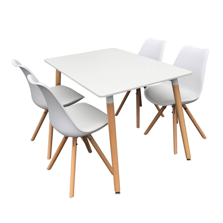 Happy Garden Ensemble table et chaises scandinave RITA blanc