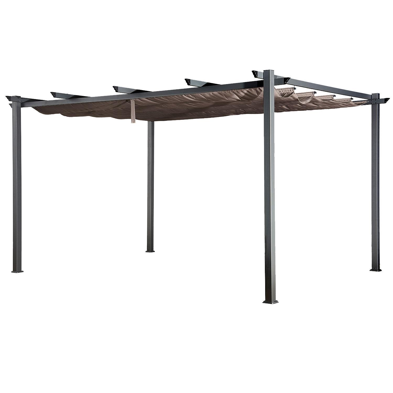 Happy Garden Pergola autoportante 3 × 4m CASSIS taupe - structure aluminium