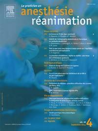 Le Praticien en Anesthésie Réanimation - Abonnement 12 mois