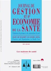 Journal de Gestion et d'Economie de la Santé - Abonnement 12 mois