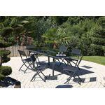 dcb garden  DCB Garden Salon de Jardin Noir en Verre Table 240 cm + 6 Chaises... par LeGuide.com Publicité