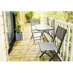 wilsa  Wilsa Salon de Jardin Balcon Anthracite Pliant : Table + 2 Chaises... par LeGuide.com Publicité