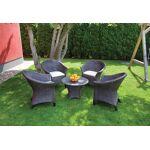 roto  Roto Salon de Jardin en Résine Tressée Marron: 1 Table Basse + 4... par LeGuide.com Publicité