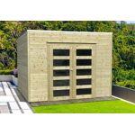 solid  Solid Abri de Jardin en Bois Traité Bari 19 mm ? 9 m² avec Toit... par LeGuide.com Publicité