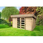 solid  Solid Abri de Jardin en Bois Brut Stockholm 28 mm - 9 m² avec Toit... par LeGuide.com Publicité