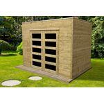solid  Solid Abri de Jardin en Bois Traité Capri 19 mm ? 6 m² avec Toit... par LeGuide.com Publicité