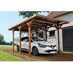 madeira  Madeira Carport Bois Enzo 1 Voiture Teinté Marron (3x5,1x2,33)... par LeGuide.com Publicité