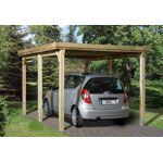weka  Weka Carport Bois Optima 1 Voiture (Plusieurs Tailles) Votre carport... par LeGuide.com Publicité