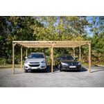 habrita  Habrita Carport Bois Autoclave 2 Voitures Toit Plat PVC Votre... par LeGuide.com Publicité