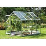 lams  Lams Serre de Jardin en Aluminium Gris et Verre 3mm 5m² - Vénus 5000... par LeGuide.com Publicité