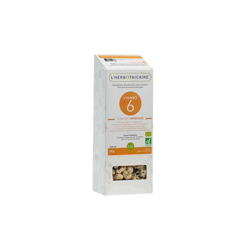 L'herboticaire L'herbôthicaire Tisane L'herbô 6 Confort Hépatique