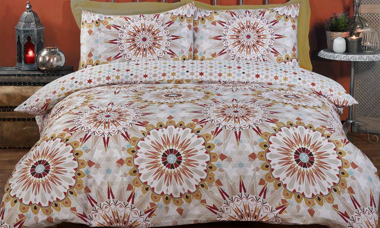 Rapport Home Parure de lit à motifs Rapport Home : King size / Maroc