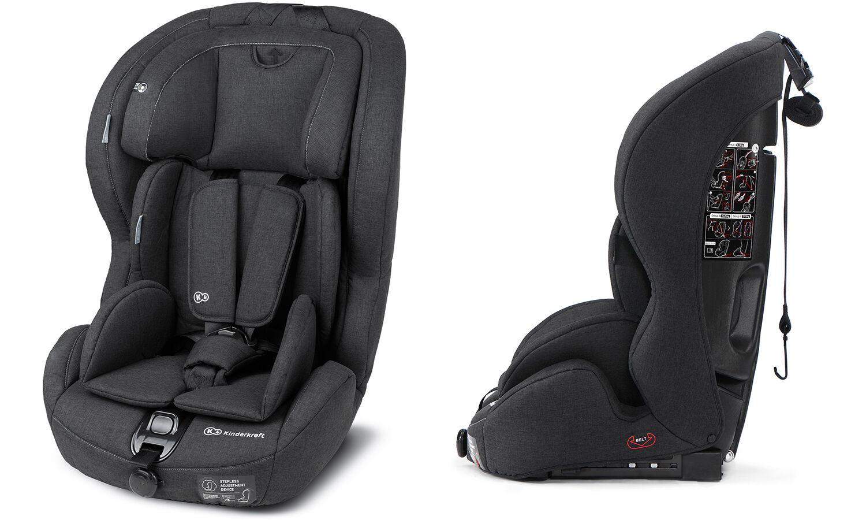 KinderKraft Siège auto Safetyfix Isofix 9-36kg : Noir