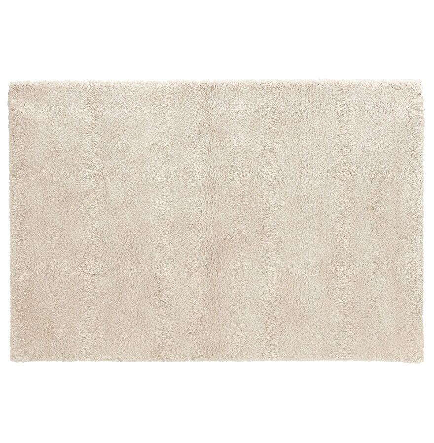 Alterego Tapis de salon shaggy 'TISSO' beige - 120x170 cm