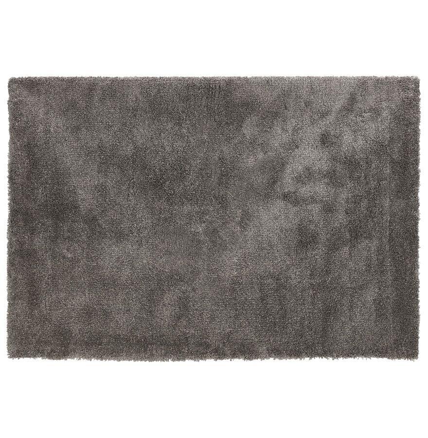 Alterego Tapis de salon shaggy 'TISSO' gris foncé - 160x230 cm