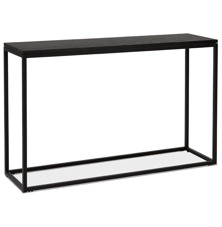 Alterego Table console style industriel 'RIVER' en bois et métal noir