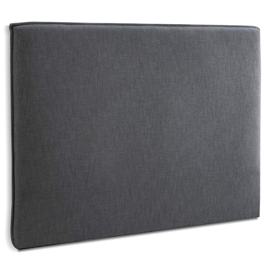 Alterego Tête de lit 'TIESTO' 160 avec revêtement en tissu gris anthracite