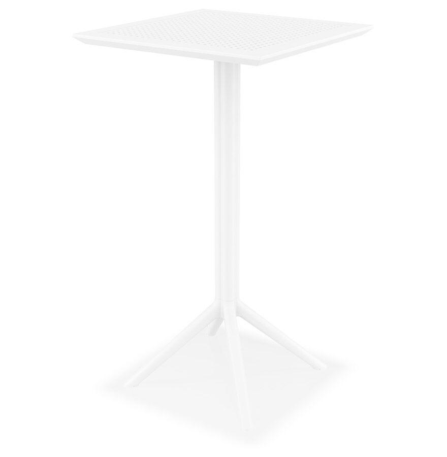 Alterego Table haute pliable 'FOLY BAR' blanche pour intérieur et extérieur