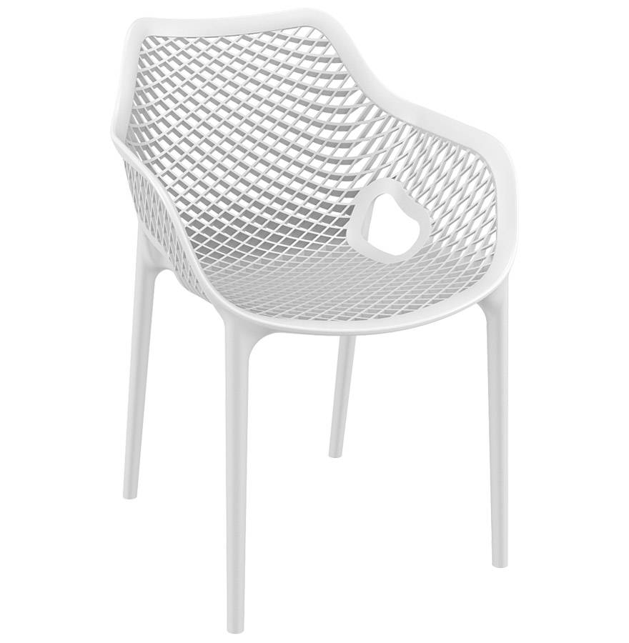 Alterego Chaise de jardin / terrasse 'SISTER' blanche en matière plastique