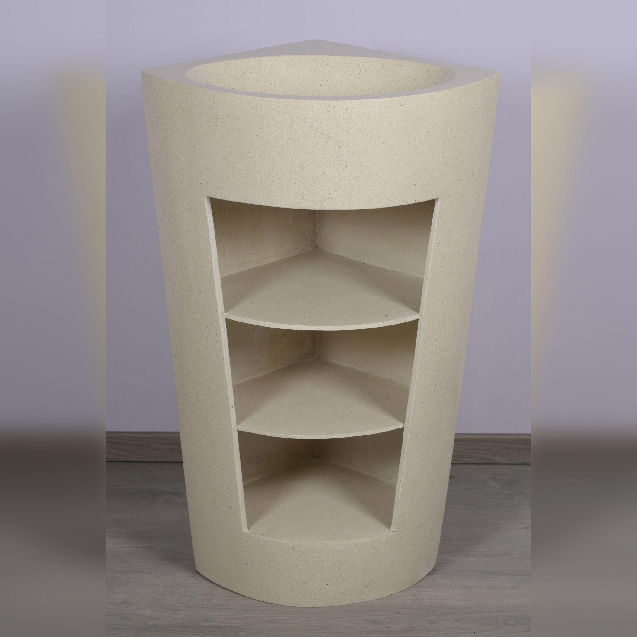 Saniteck Vasque sur pied d angle blanc