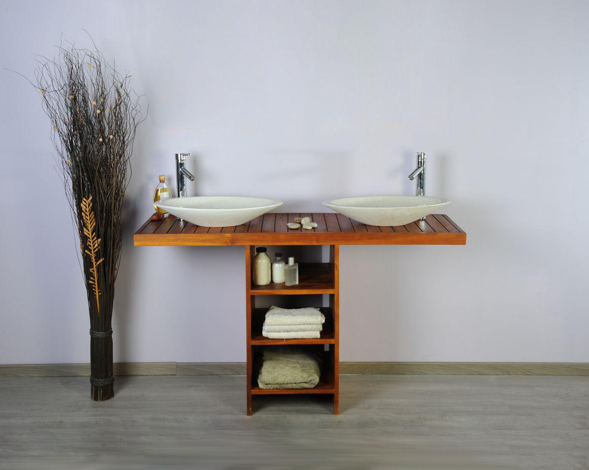 Saniteck Meuble salle de bain teck 140 new gempo