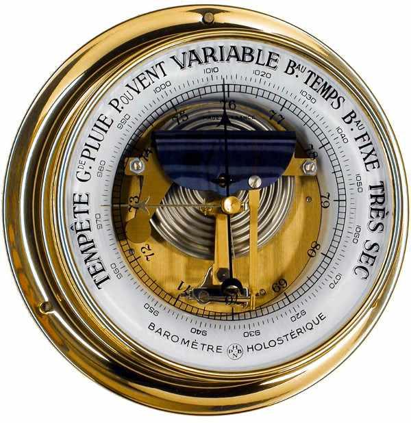 NAUDET Baromètre Luxe à collerette diam. 205 mm NAUDET N-1-17-BC