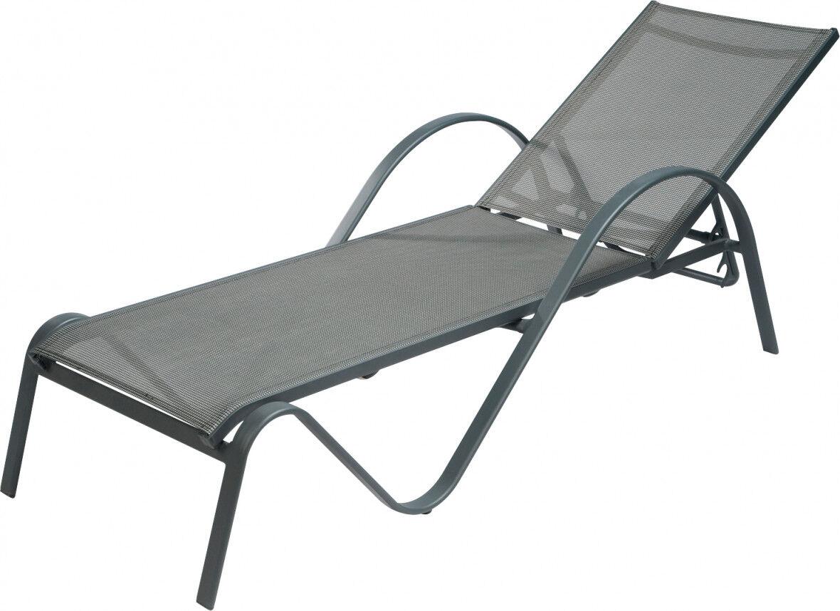 Destock Meubles Bain de soleil Sunset aluminium gris