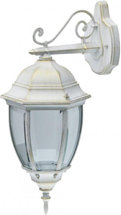 Destock Meubles Applique exterieur en métal blanc patiné or et verre 1 ampoule – Street