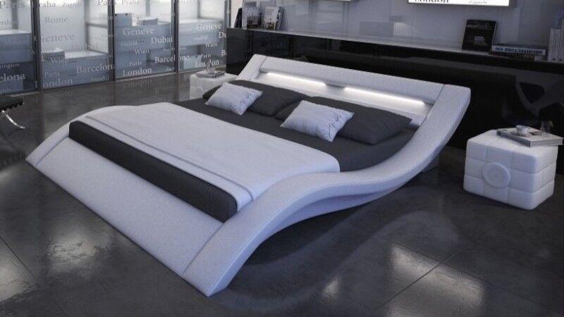 gdegdesign Lit design lumineux blanc 180x200 cm - Ozark