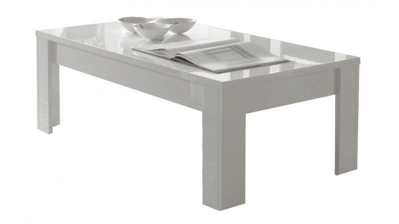 gdegdesign Table basse blanche rectangulaire - Naomi